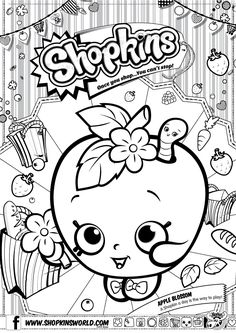 Need a fun activity to do with friends? Color Apple Blossom in! #funstuff #shopkins