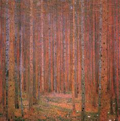 Fir Forest I, 1901 - Gustav Klimt Gustav Klimt, Fabric Paper, Canvas Fabric, Canvas Artwork, Canvas Prints, Pine Forest, Paul Gauguin, Old Master, Poster Wall