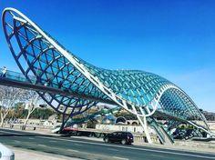 Peace Bridge #georgia #tiblisi #oldtbilisi #parametric #architecture by laith_mohammad21
