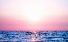Earth Sunset  Pastel Sky Sea Colorful Wallpaper