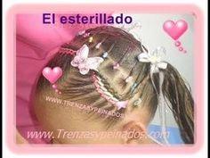 Peinado para niñas (ESTERILLADO Y TRENZA POSTIZA) Ribbon Hairstyle, Braided Bun Hairstyles, Teen Hairstyles, Hairstyles For School, Rose Crafts, Gorgeous Hair, Ponytail, Bobby Pins, Braids