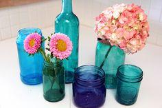 Zacznij wierzyć w wieczność Jar Crafts, Bottle Crafts, Home Crafts, Diy And Crafts, Tinting Jars, Crafty Projects, Projects To Try, Reuse Candle Jars, Diy Jars