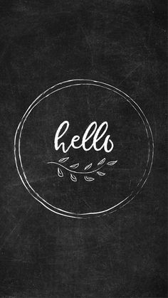 Free Chalkboard Instagram Highlight Covers - Hello