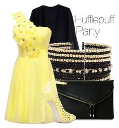 Hufflepuff Party by the-wonders-fashion on Polyvore featuring polyvore fashion style Acne Studios Urban Expressions Eloquii clothing