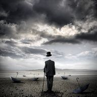 Abstract photo with a great mood Saatchi Online Artist: Stefano Bonazzi; Photomanipulation, Digital The cemetery of umbrellas Surrealism Photography, Art Photography, Photoshop, Arte Black, Inspiration Artistique, Wow Art, Saatchi Online, Surreal Art, New Media