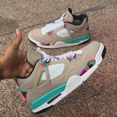 Play In The Sand Abstract Jordan w/Custom Abstract Tip shoe laces made for a customer. Text to get your shoes customized today! Cute Sneakers, Best Sneakers, Sneakers Fashion, Shoes Sneakers, Jordan Sneakers, Jordan Shoes Girls, Jordans Girls, Air Jordans, Zapatillas Jordan Retro