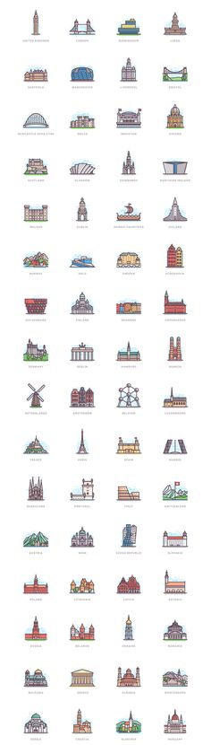 332 Landmarks on Behance Instagram Logo, Instagram Story, Country Flags Icons, Logo Ig, Insta Bio, City Drawing, City Icon, Flag Icon, Ligne Claire