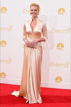 Katherine Heigl, in John Hayles, with Chopard jewels and an Oroton clutch.