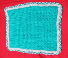 Front and Back Post Half Double Crochet Placemat - M.Y. Craft Planet