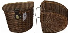 WICKER BIKE BASKET WITH LID
