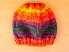 Ravelry: Quick and Easy Knitted Hat pattern by Ana Figueira