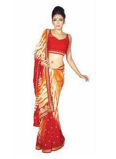 Tiptop Red Designer Saree