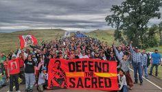 Nativos norte-americanos se mobilizam contra a construção de um oleoduto em…
