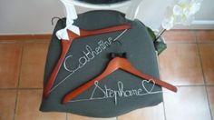 Cintre personnalisé au nom des mariés - Catherine et Stephane