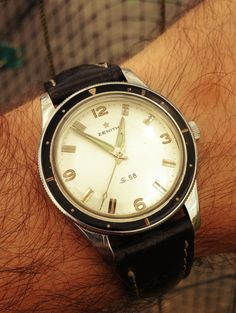Beautiful Vintage Zenith S.58 Diver In Gorgeous Condition Circa 1950s