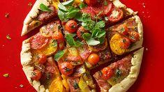 French tomato tart (tarte à la tomate) recipe : SBS Food Tart Recipes, Lunch Recipes, Pastry Cream Filling Recipe, Sbs Food, Food Food, French Dishes, French Food, Tomato Dishes, Tailgate Food