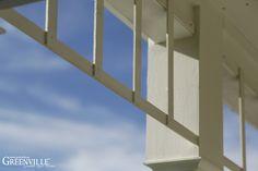 Zarte Verzierung an der Porch Greenville - Architektur