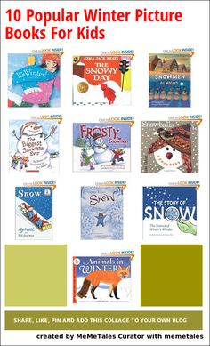 10 picture books about winter, snow and snowmen.