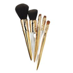 Brushes With Greatness - Alexis Bittar for Sephora Collection Liquid Gold Beauty five-piece set with stand  - from InStyle.com