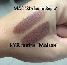 """Finally found a dupe for Mac's """"Styles in sepia"""" via @itsmecindys"""