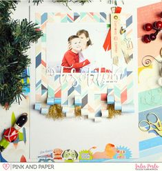 Christmas layout with Pink Paislee Wild Child Collection