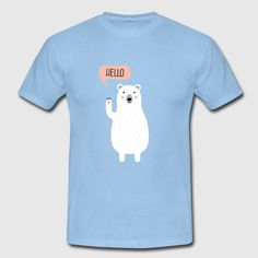 Cute Winter Polar Bear Illustration Men's Premium Longsleeve Shirt ✓ Unlimited options to combine colours, sizes & styles ✓ Discover Long Sleeve Shirts by international designers now! Polar Bear Illustration, Long Sleeve Shirts, Winter, Cute, Mens Tops, Winter Time, Kawaii