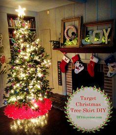 Target Christmas Tree Skirt DIY Two