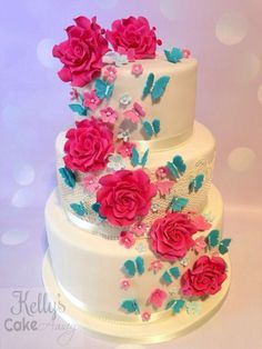 Turquoise and Cerise Wedding