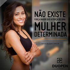 Motivação Fitness: Não existe força maior que a força de uma mulher determinada. #força #determinação #motivação #fitness