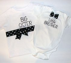 Big Sister Little Brother BowTie Boutique by BabiesandBeyond, $31.00
