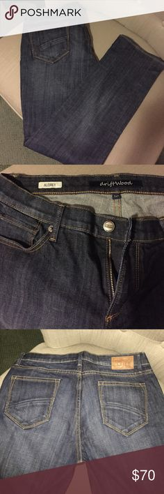 """Driftwood Audrey Innovator Jeans Size 30.  Worn once, didn't fit right.  Washed once, not dried.  31"""" in seam.  Bought from Sundance, they are in perfect condition.  No trades.  Thanks! Driftwood / Sundance Pants"""