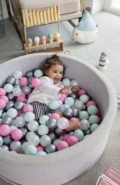Our Mini Be Ball Pits are of the highest quality, non-toxic and are the most modern and unique ball pits on the market 🙌 Available in 11 different ball colour combinations to suit every bedroom, playroom or nursery. Contemporary Nursery Decor, Nursery Modern, Ball Pit Pink, Image Ball, Playroom Storage, Pregnancy Pillow, Nursery Inspiration, Nursery Ideas, Latest Colour