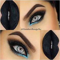 Eye Makeup Tips.Smokey Eye Makeup Tips - For a Catchy and Impressive Look Fall Makeup, Love Makeup, Makeup Inspo, Makeup Inspiration, Makeup Tips, Beauty Makeup, Makeup Ideas, Dark Makeup Looks, Black Makeup For Blue Eyes