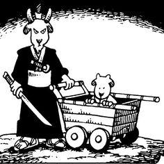 Lone Goat and Kid by Stan Sakai. Usagi Yojimbo, Manga Comics, Lonely, Goats, Peanuts Comics, Comic Books, Artist, Kids, Image