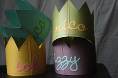 Page 10 - 20 Homemade Goody Bag Ideas I Birthday Goody Bags for Kids - ParentMap .they can make their own party hats :) Homemade Birthday, It's Your Birthday, First Birthday Parties, First Birthdays, Birthday Crowns, Birthday Ideas, Le Diner, Childrens Party, Party Gifts