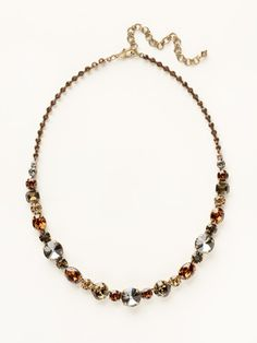 Love the mixture of sizes and colors to create this gorg necklace!