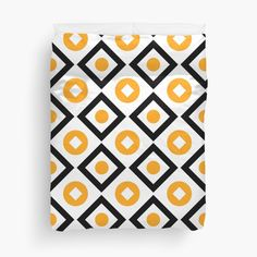 Buy Sunyellow pattern of rhombuses and circles Duvet Covers by Steffen Remter on Redbubble!.   ★ Check out and love:   https://remter.de http://redbubble.com/people/balticlapse   ★ Worldwide shipping available at redbubble.com.   ★ #balticlapse #remter #design #art #Remter #framed #print #tshirt #iphone #ipad #case #mug #skirt #scarf #pillow #printed #tote #bag #society6 #redbubble #artprint #redbubble #homedecor #homedesign #pillows #pattern #tops #fashion #womensfashion