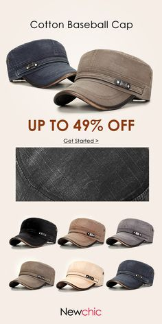 [Online Shopping]Mens Cotton Sunshade Baseball Cap /Windproof Flat#outdoor #outfits