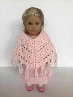 Crochet PATTERN Doll Poncho American Girl par LittleMonkeyShop