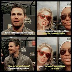 #Arrow  Stephen Amell(Oliver) & Emily Bett Rickards(Felicity), well then..