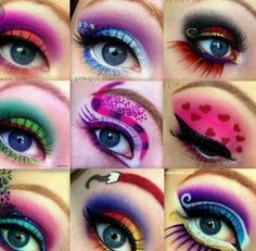 Eye Makeup Tips.Smokey Eye Makeup Tips - For a Catchy and Impressive Look Maquillage Halloween, Halloween Makeup, Easy Halloween, Maquillage Yeux Cut Crease, Make Up Designs, Rave Makeup, Night Makeup, Disney Makeup, Beauty Make-up