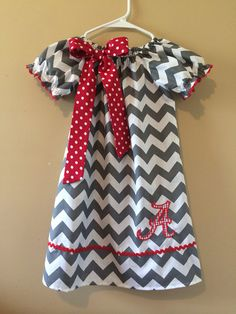 Grey and white chevron Alabama peasant by APolkaDottedPenguin, $29.92
