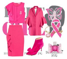 """""""Lets fight cancer like a boss 💖💝💞💟💗💓💕💌"""" by hkimorah ❤ liked on Polyvore featuring Cricut, Boutique Moschino, Charlotte Olympia, Viktor & Rolf and Delpozo"""