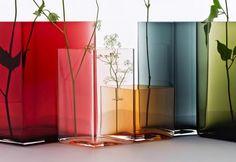Farbiges Glas für die Dekoration