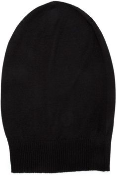 $336, Rick Owens Knit Slouchy Beanie. Sold by farfetch.com. Click for more info: https://lookastic.com/women/shop_items/343401/redirect