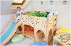 What a fun bed and play space!