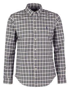 Polo Ralph Lauren SLIM FIT - Skjorta - grenn/cream - Zalando.se