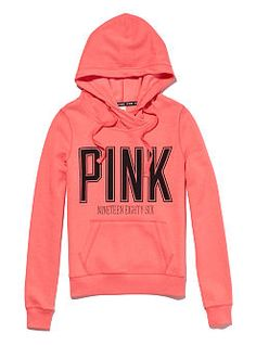 Coral Victoria's Secret pink hoodie