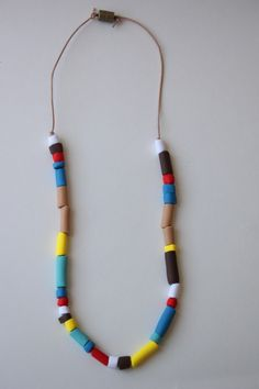 diy indian inspired necklace. Supplies could be in a bag as a table activity.