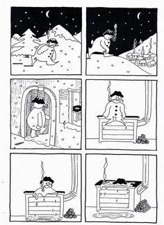 Images séquentielles bonhomme de neige